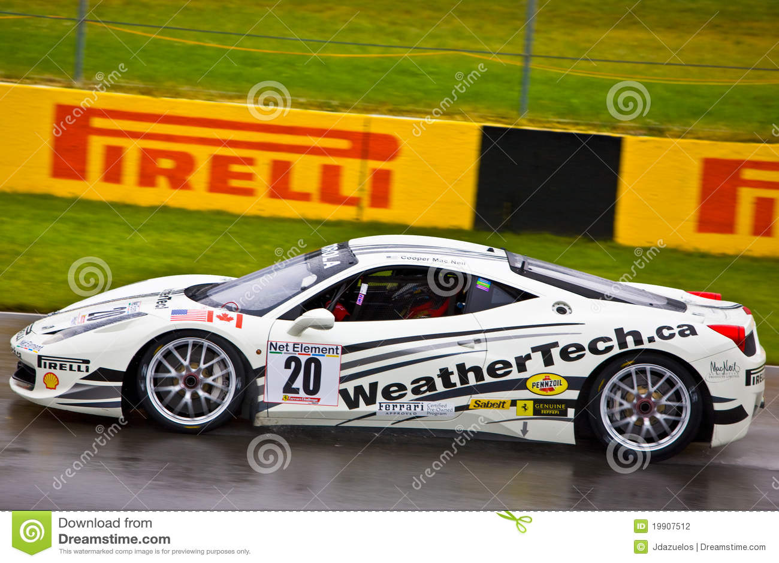 weathertech ferrari racing at montreal grand prix editorial image cartoondealer   19907512