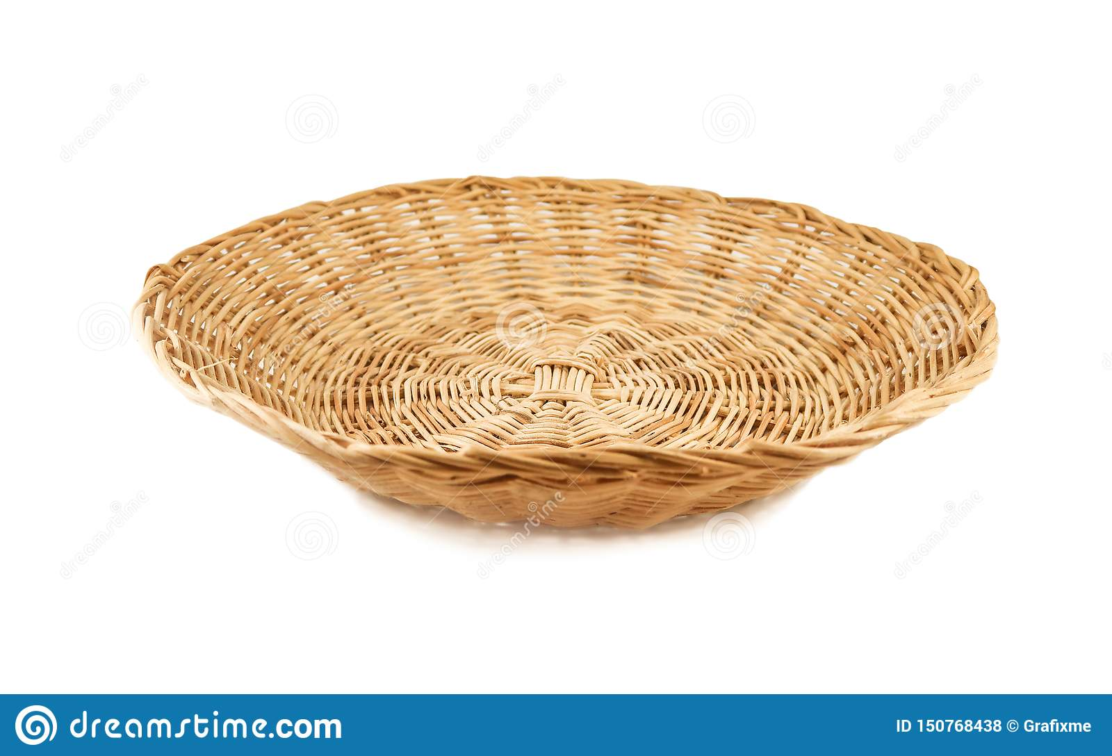Weave basket on white background
