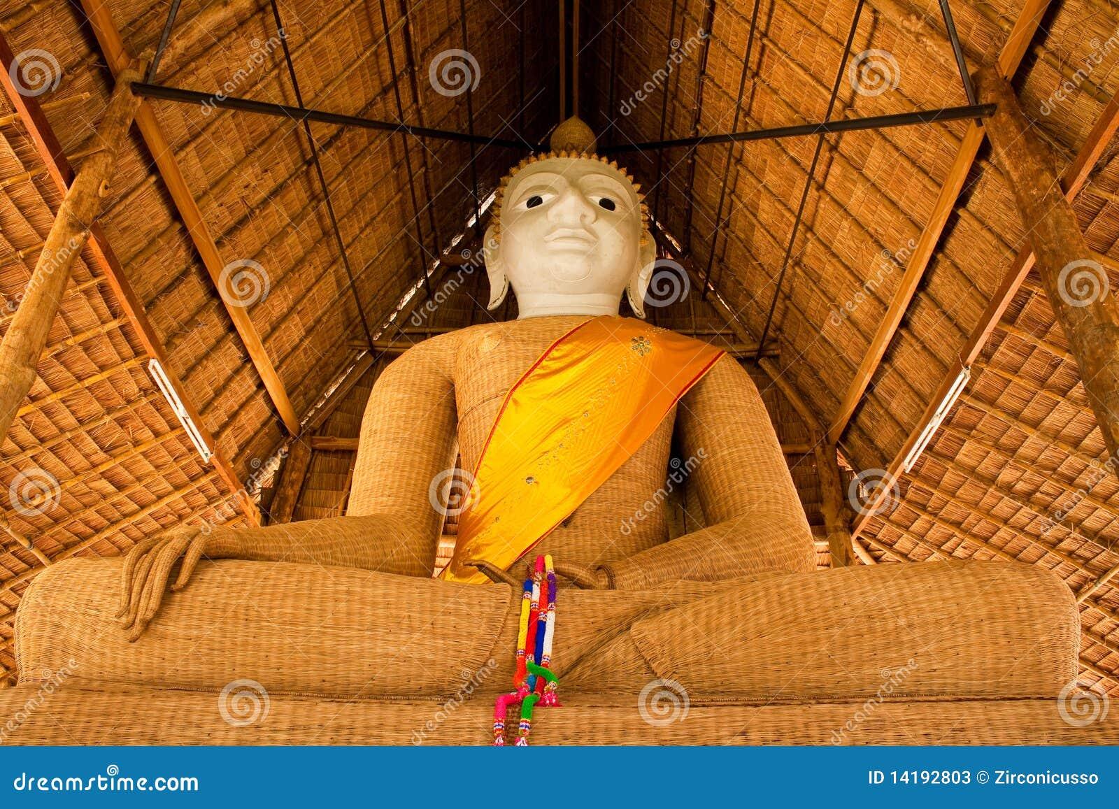 Weave da imagem de buddha do princípio com bambu