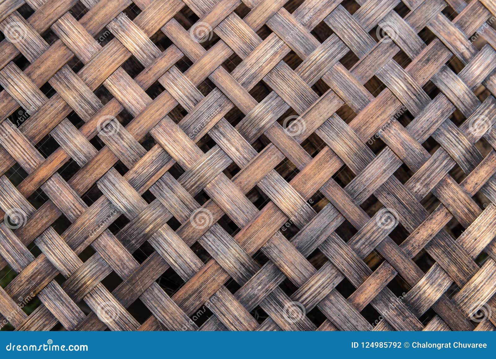 Weave de bambu da cestaria