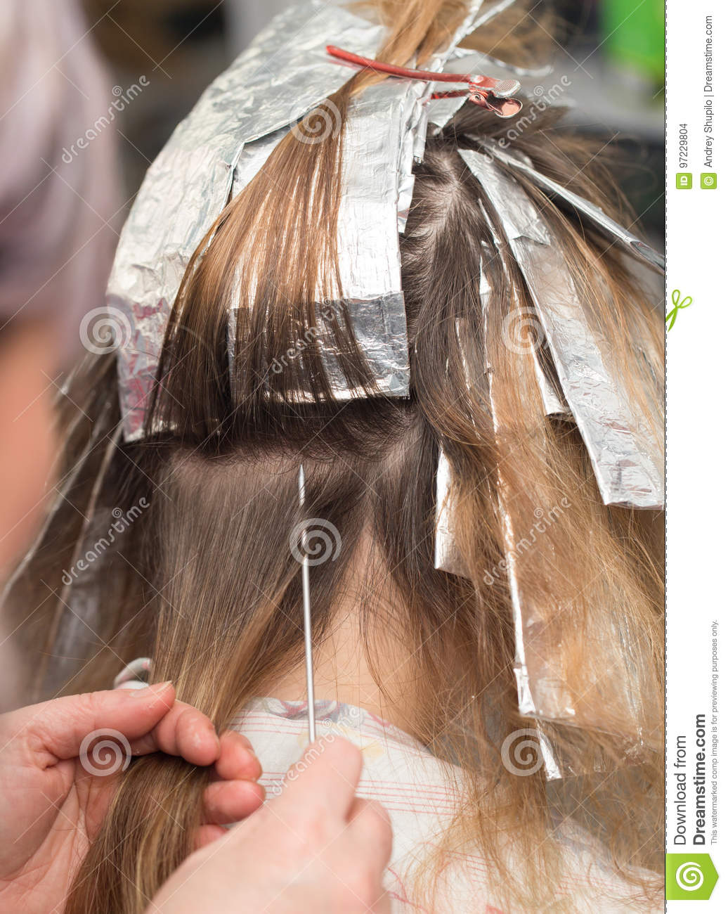 Weave Hair In Beauty Salon Stock Photo Image Of Hair 97229804