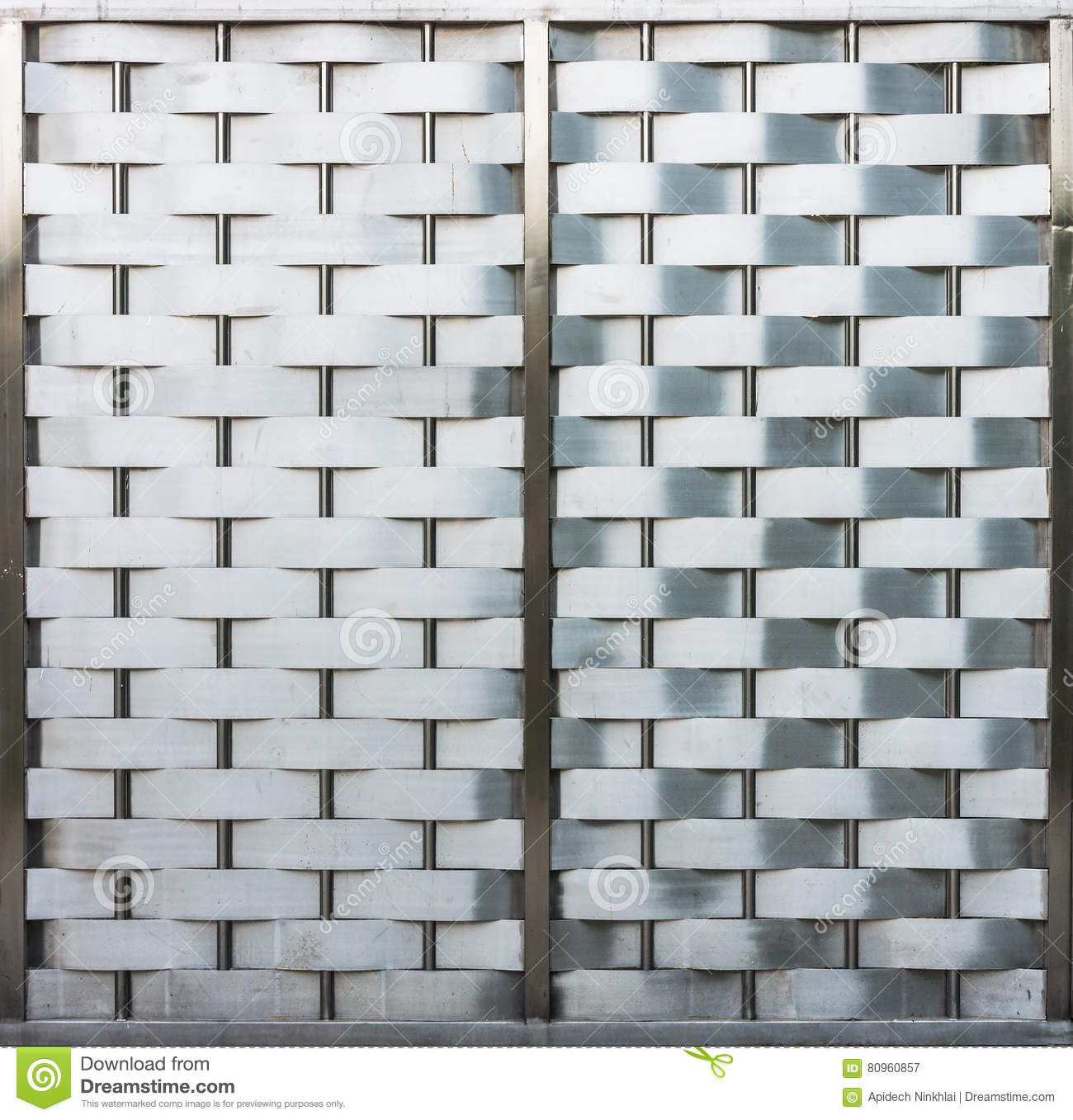 Weave Metallic Wall With Metal Frame Stock Image - Image of ...