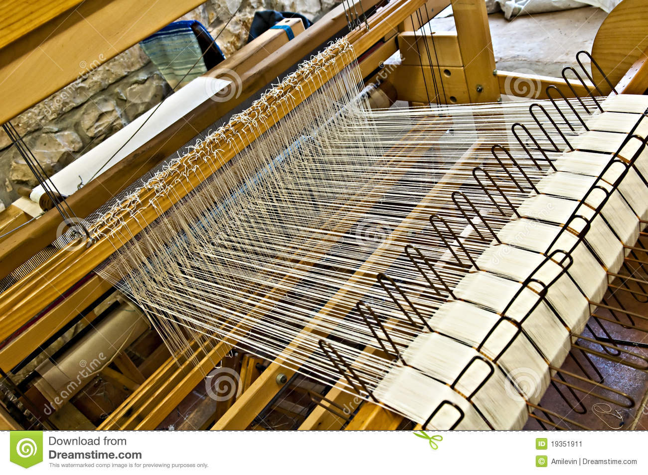 Weaving Machine Stock Image - Image: 19351911