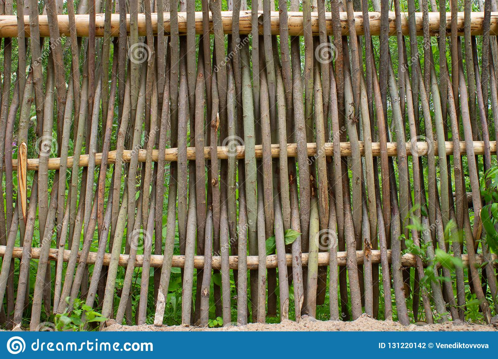 Weaving From Willow Branches Fence From Tree Branches Stock Photo Image Of Fence Closeup 131220142