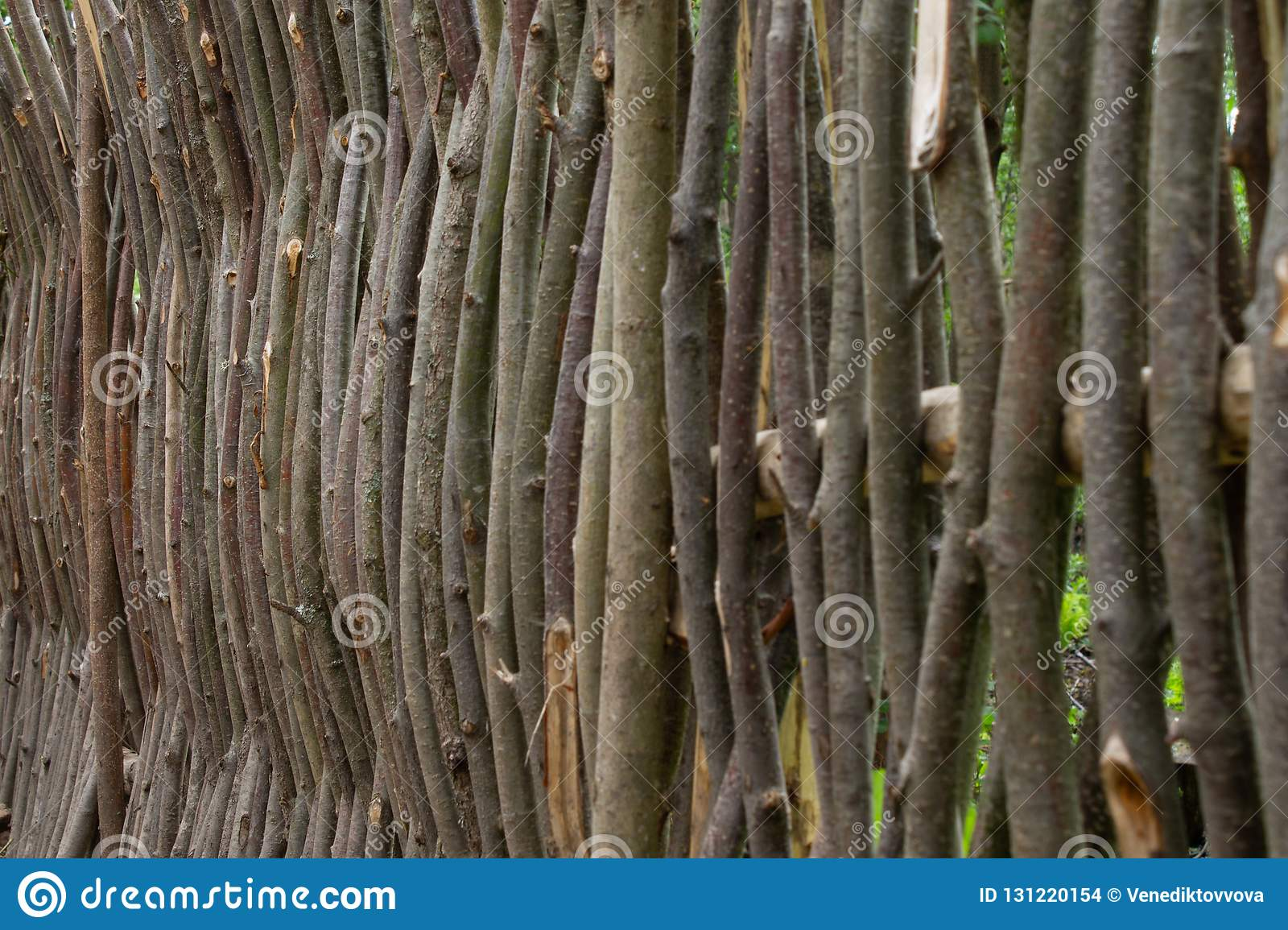 Weaving From Willow Branches Fence From Tree Branches Stock Photo Image Of Craft Background 131220154
