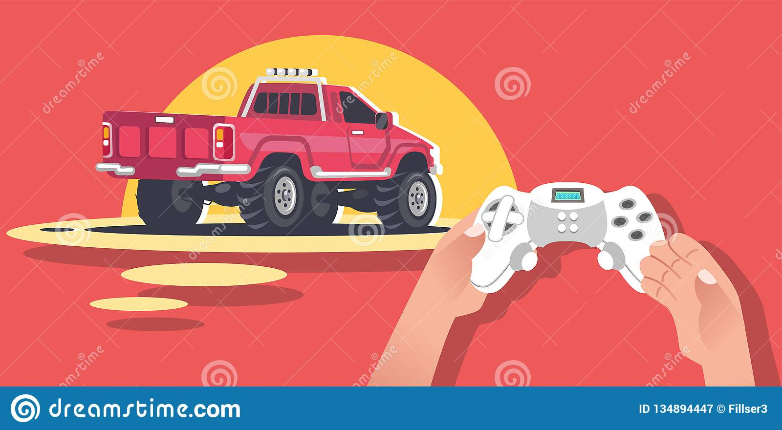Hands Holding Video game console.