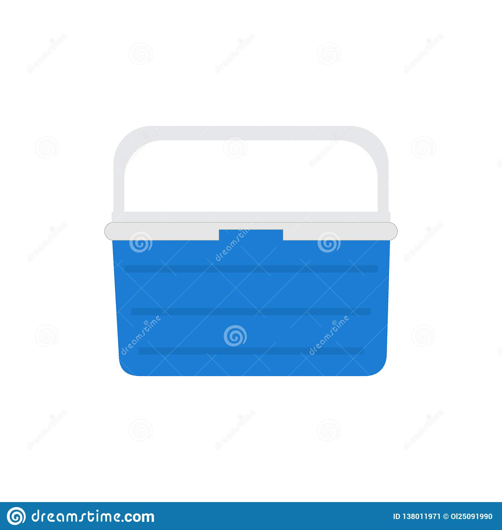 42134a2d0dfb Handheld Blue Refrigerator, Ice Cooler For Picnic Or Camping. Vector ...