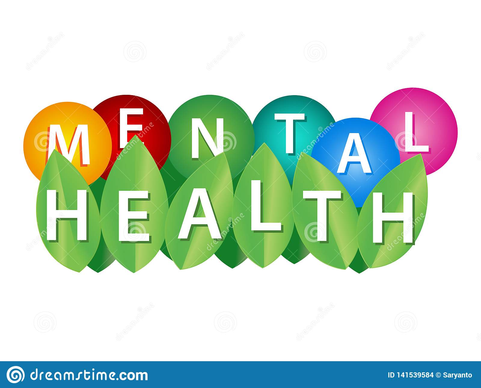 Word Writing Mental Health Vector Illustration Concept For Sychological And Emotional Condition Wellbeing Of A Person Psychoth Stock Vector Illustration Of Banner Card 141539584