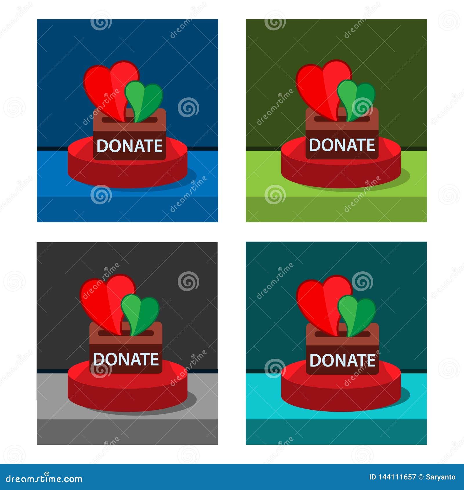 Donate icon on the circle, stock icon