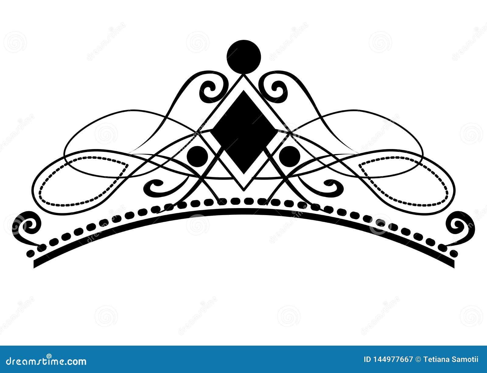 Web. Vintage calligraphic vignettes, elegant diadems and decorative design elements in retro style, vector