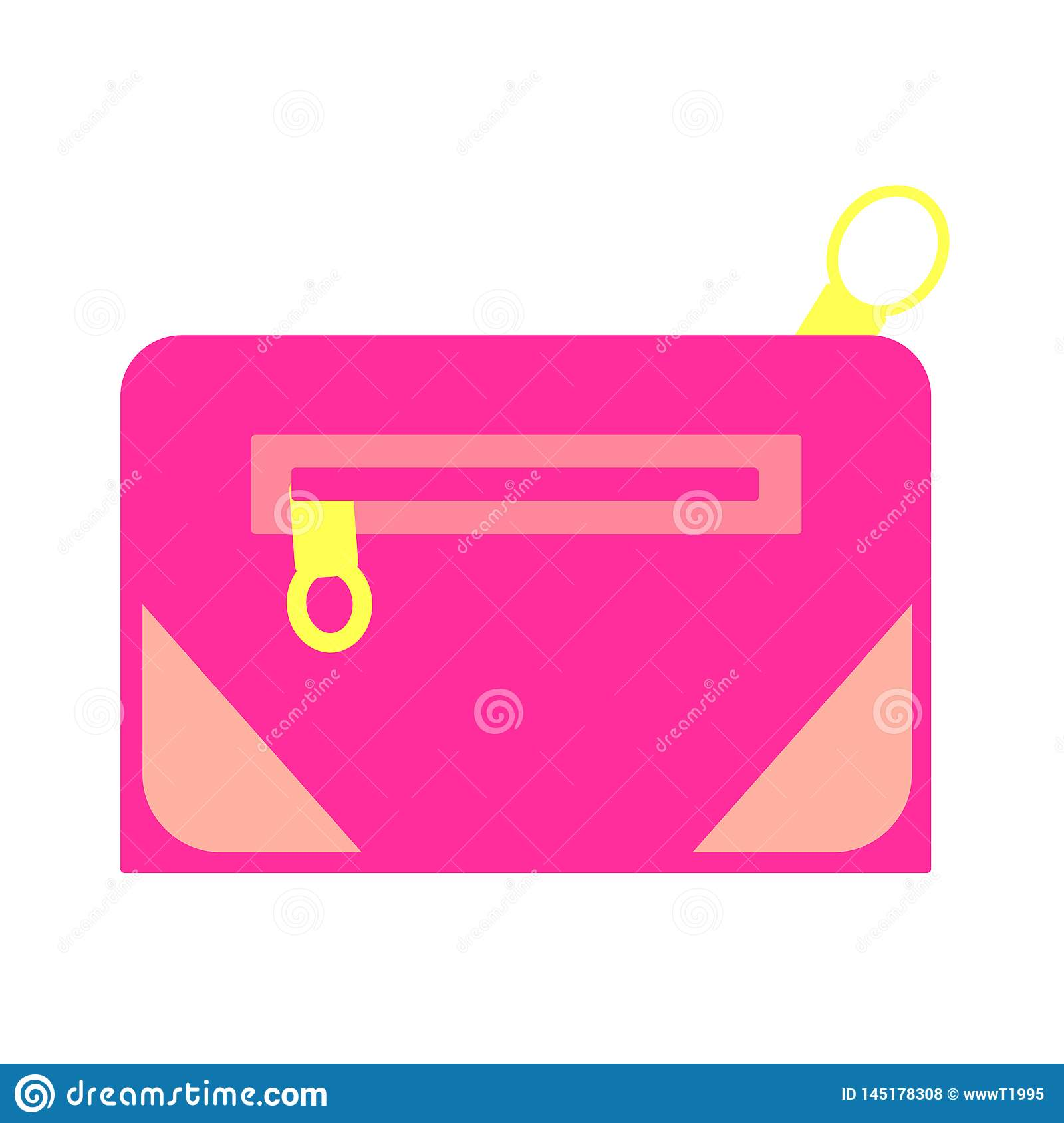 Web vector cosmetic, make up colorful bright travel bags