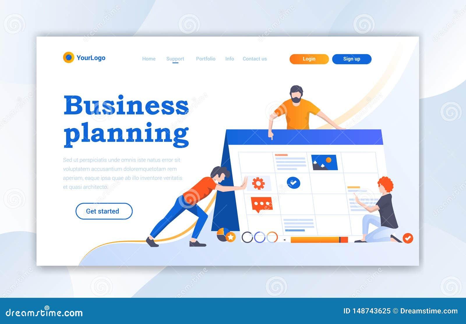 Web Design Landing page website template designs. Modern flat design vector illustration concepts of web page design for website