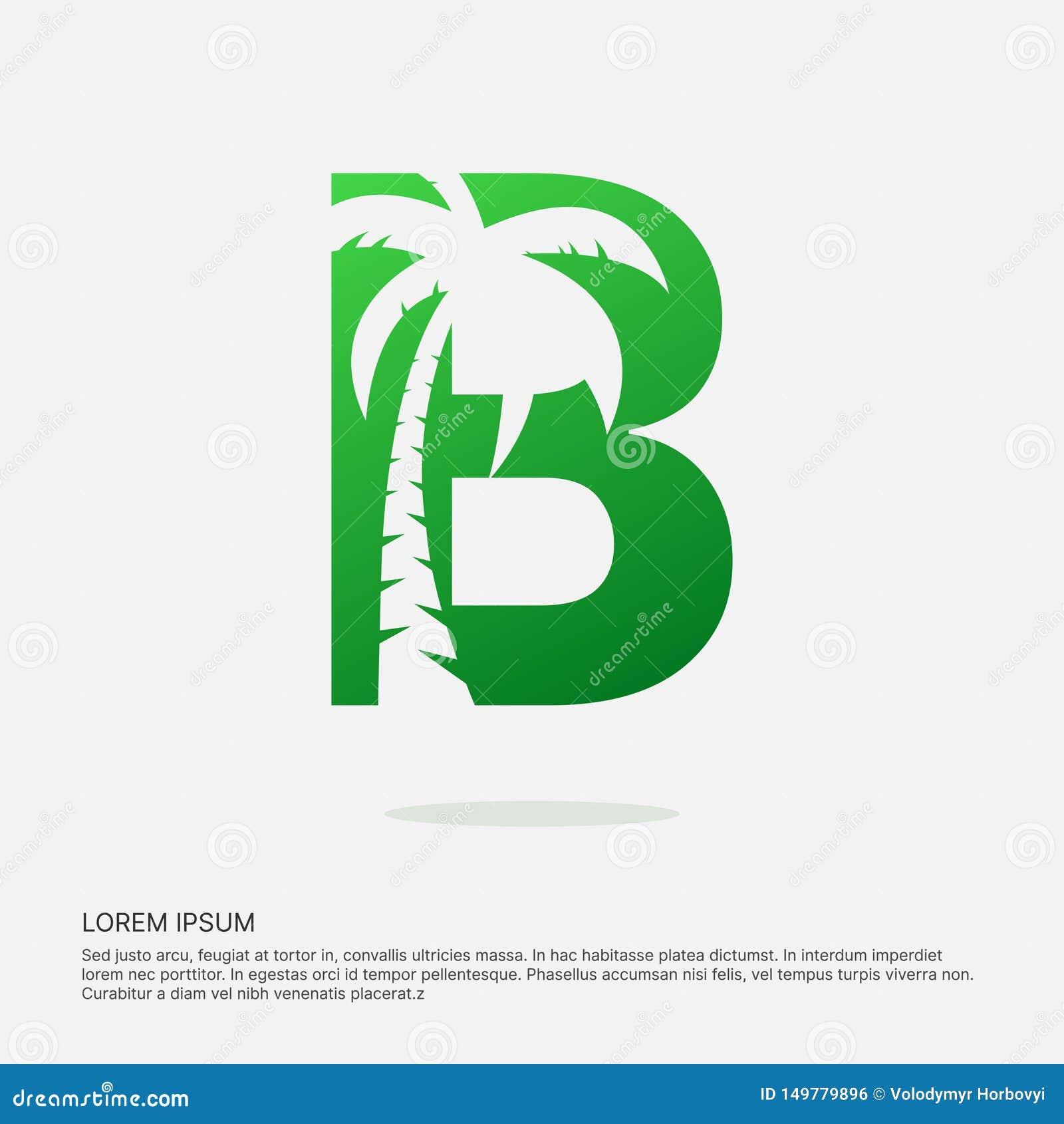 B letter design negative space logotype.