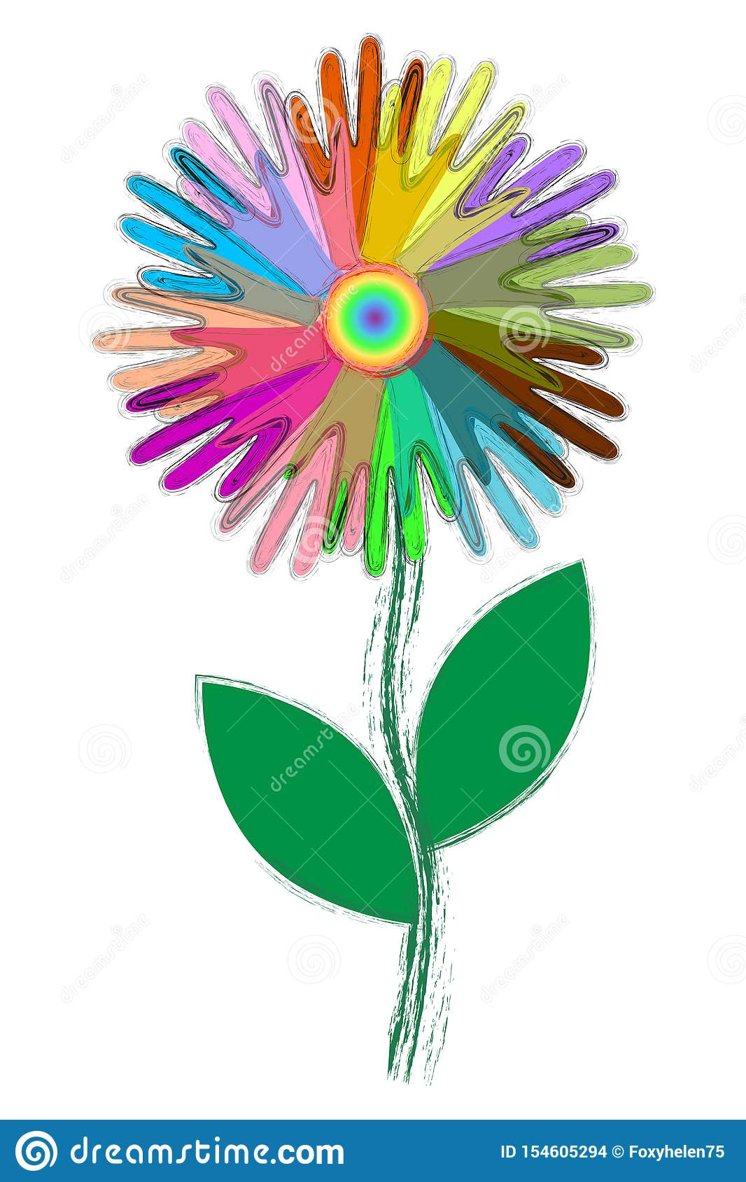 Colorful icons of people`s hands, like flower petals, concept of togetherness, mutual aid, fraternity, team