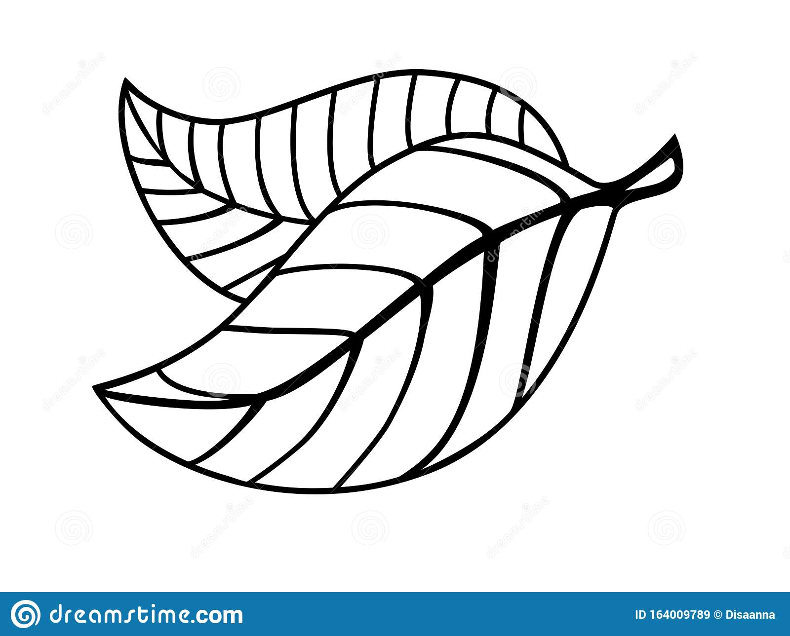Graceful Beautiful Leaves Coloring Two Leaves With Veinlet And Petiole Linear Vector Leaves Element For Coloring Outline Stock Vector Illustration Of Botany Natural 164009789