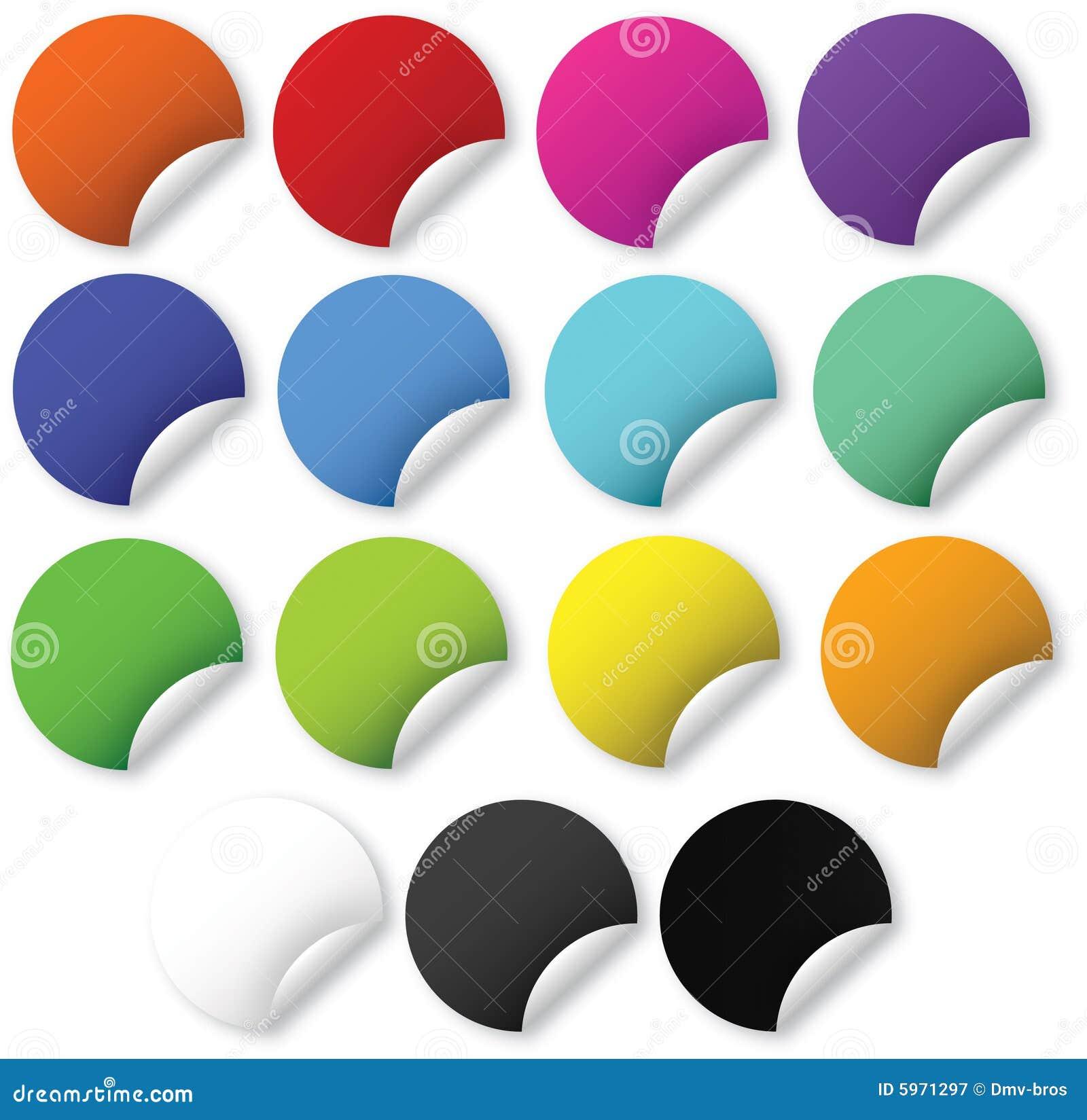 Web 2.0 bright stickers