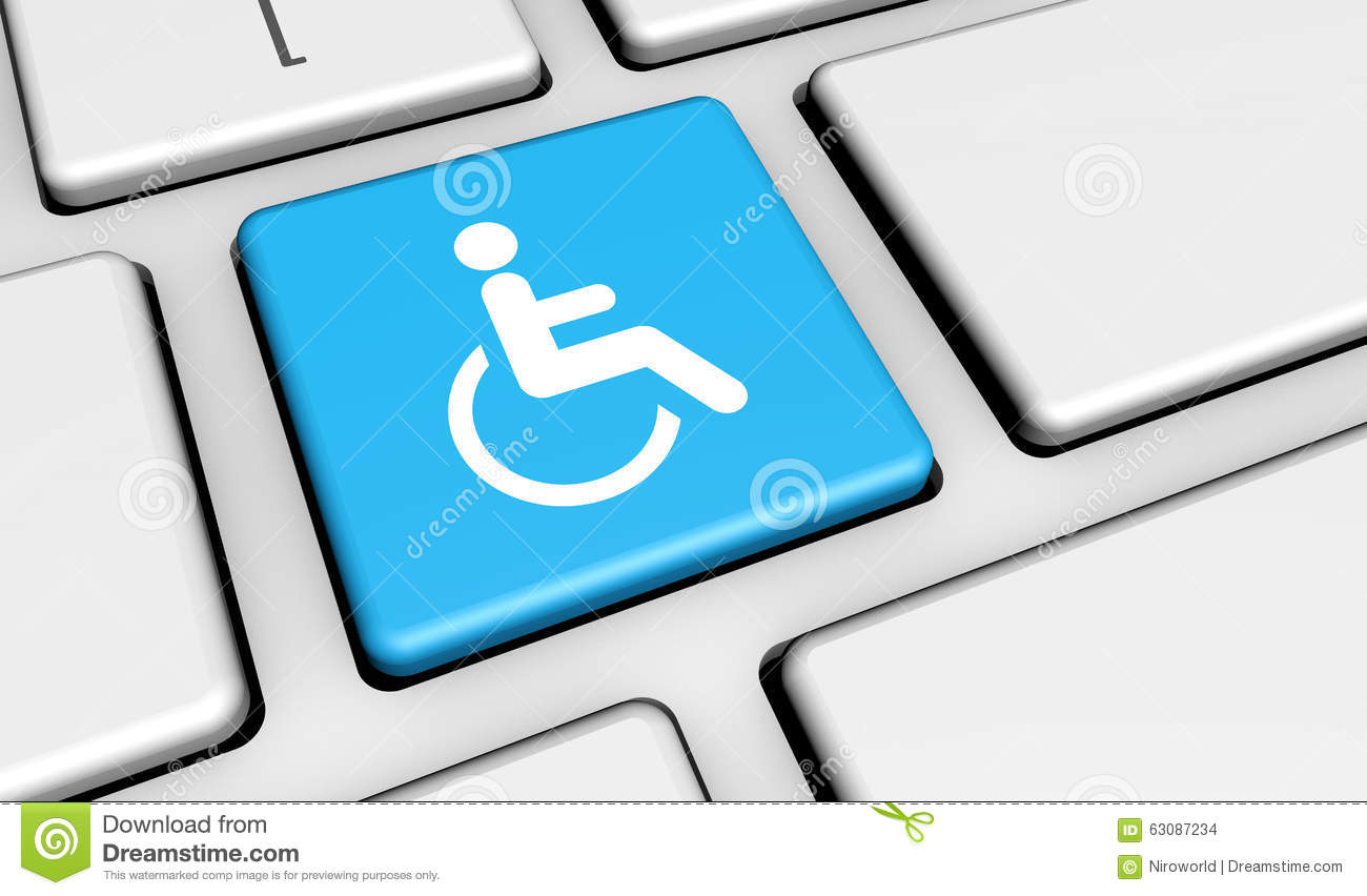 Web accessibility icon on keyboard stock illustration illustration web accessibility icon on keyboard biocorpaavc Images