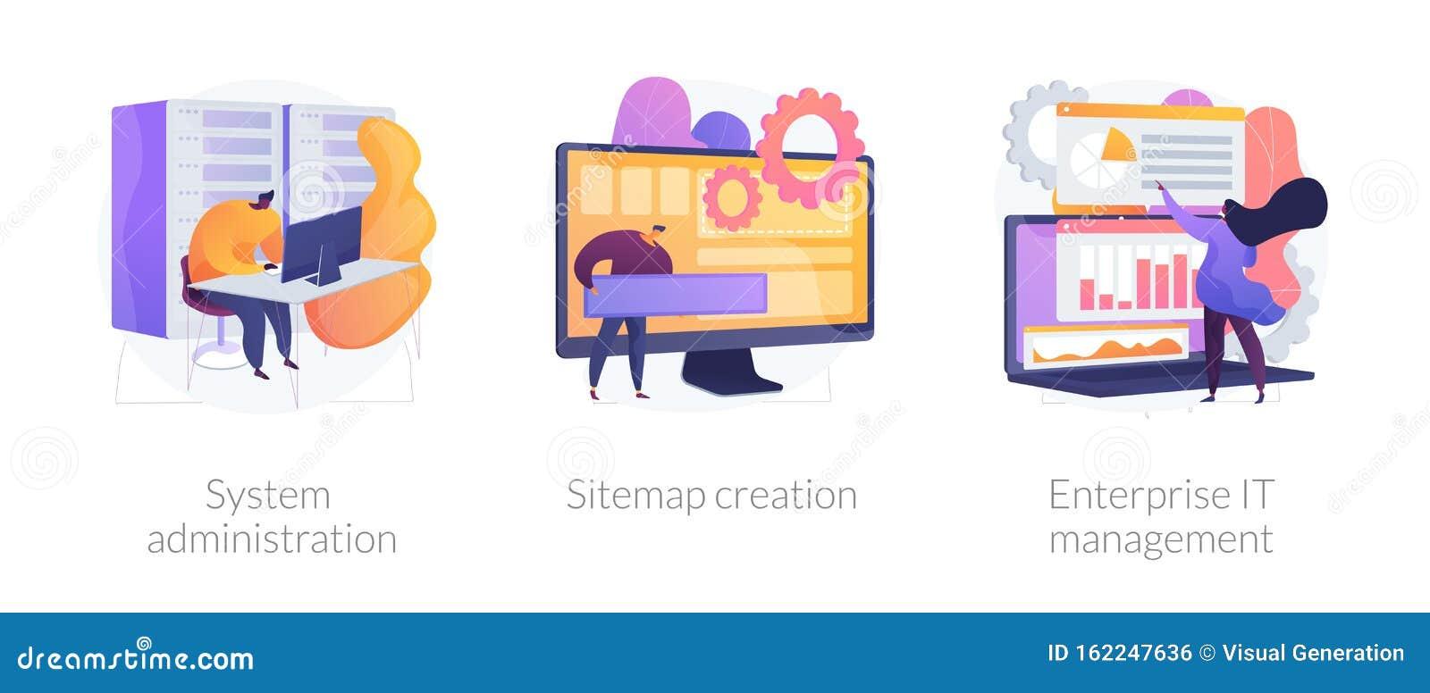 Web administration vector concept metaphors