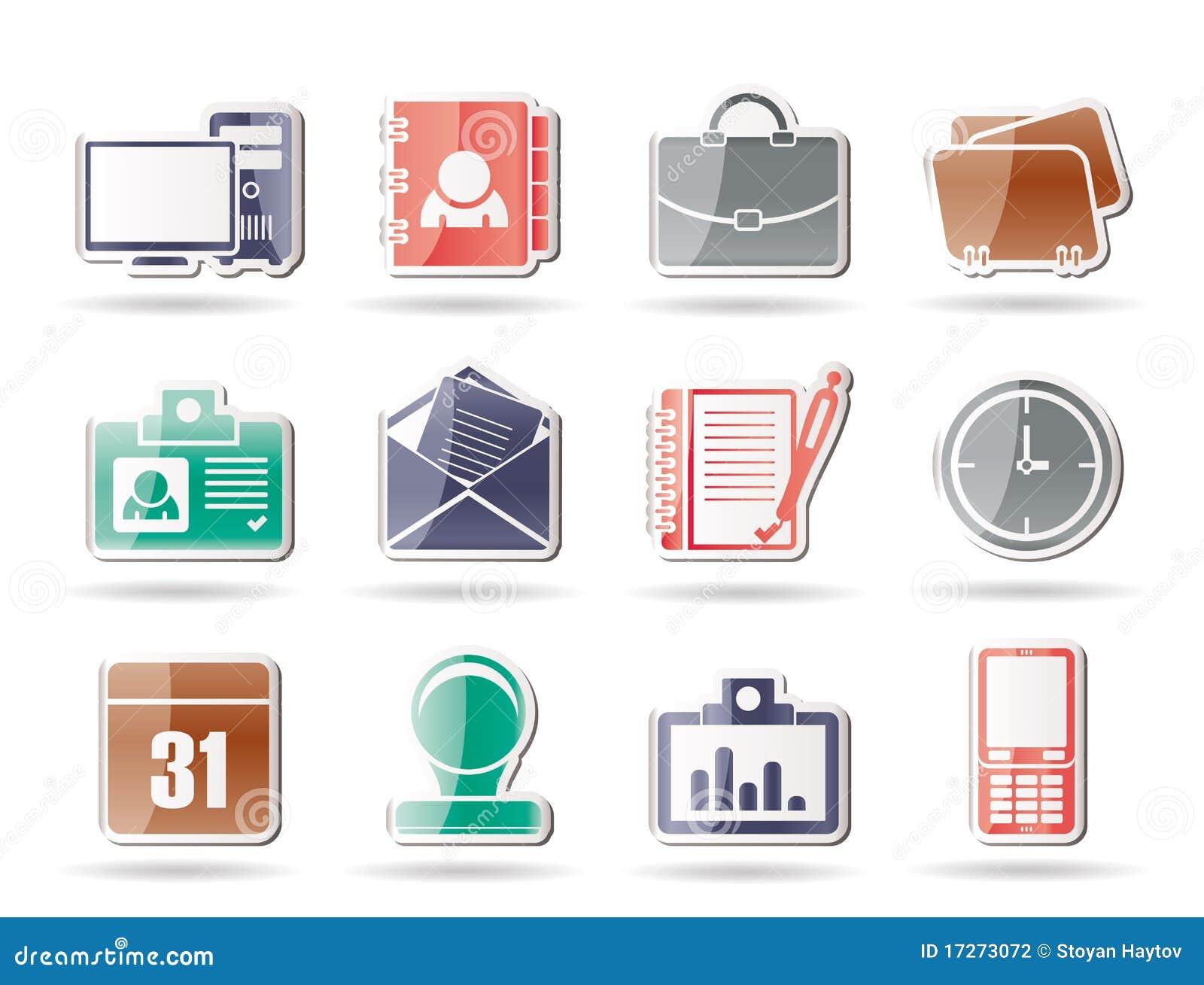 Web-Anwendungs-, Geschäfts- und Büroikonen