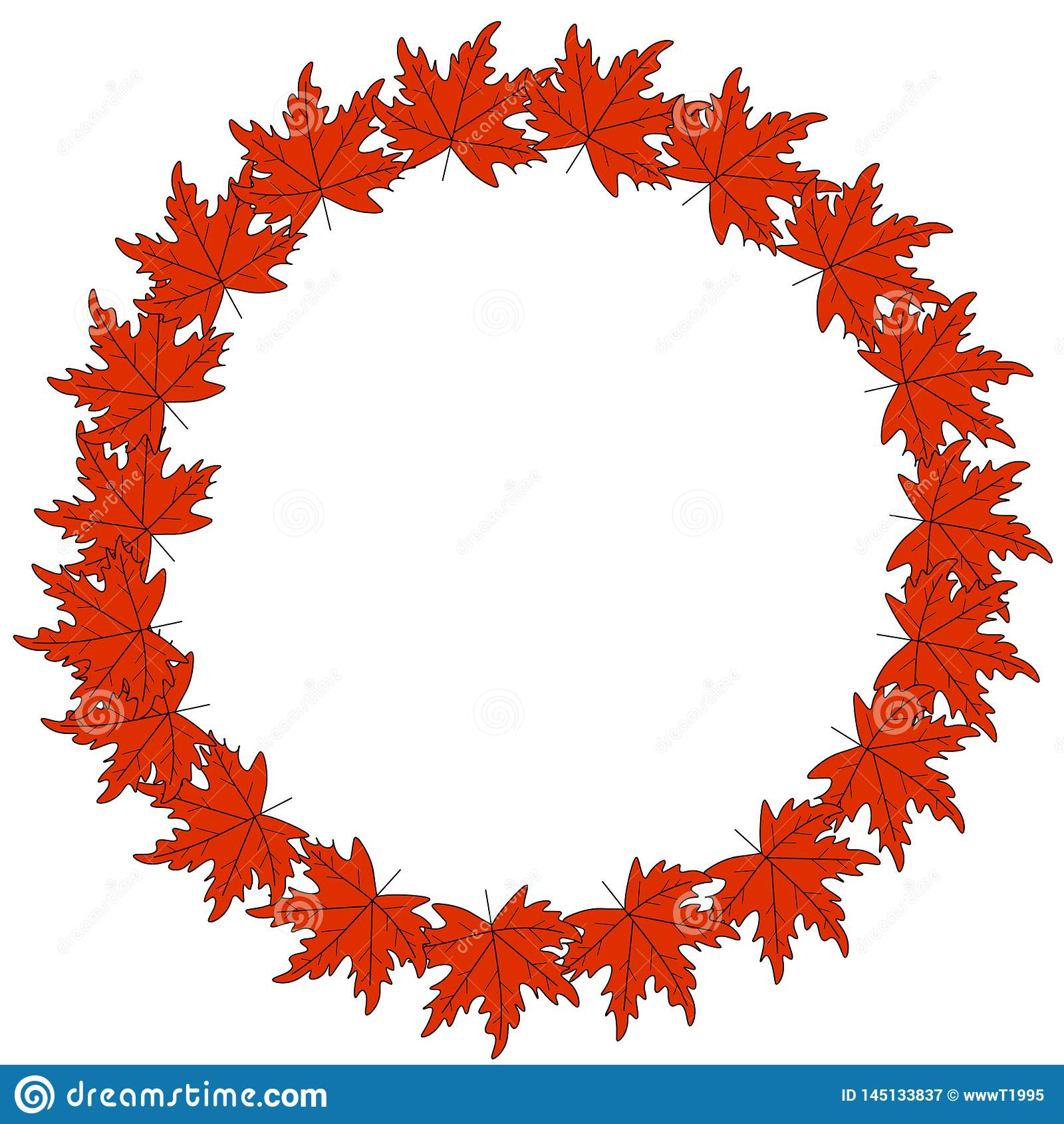 Web Autumn Logo Design guirnalda del otoño, marco redondo de las hojas de otoño coloreadas y bayas Elementos del dise?o gr?fico