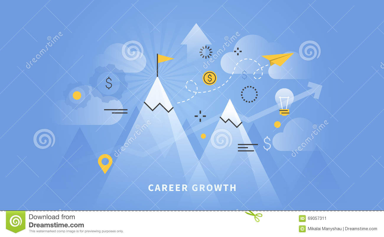 web banner of career growth stock vector image 69057311 web banner of career growth
