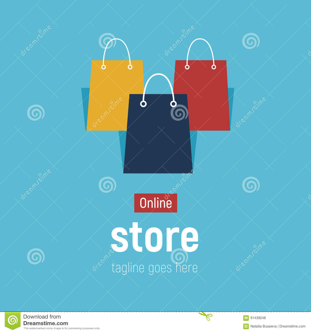 Web online shopping bags e commerce stock image for Online art stores us