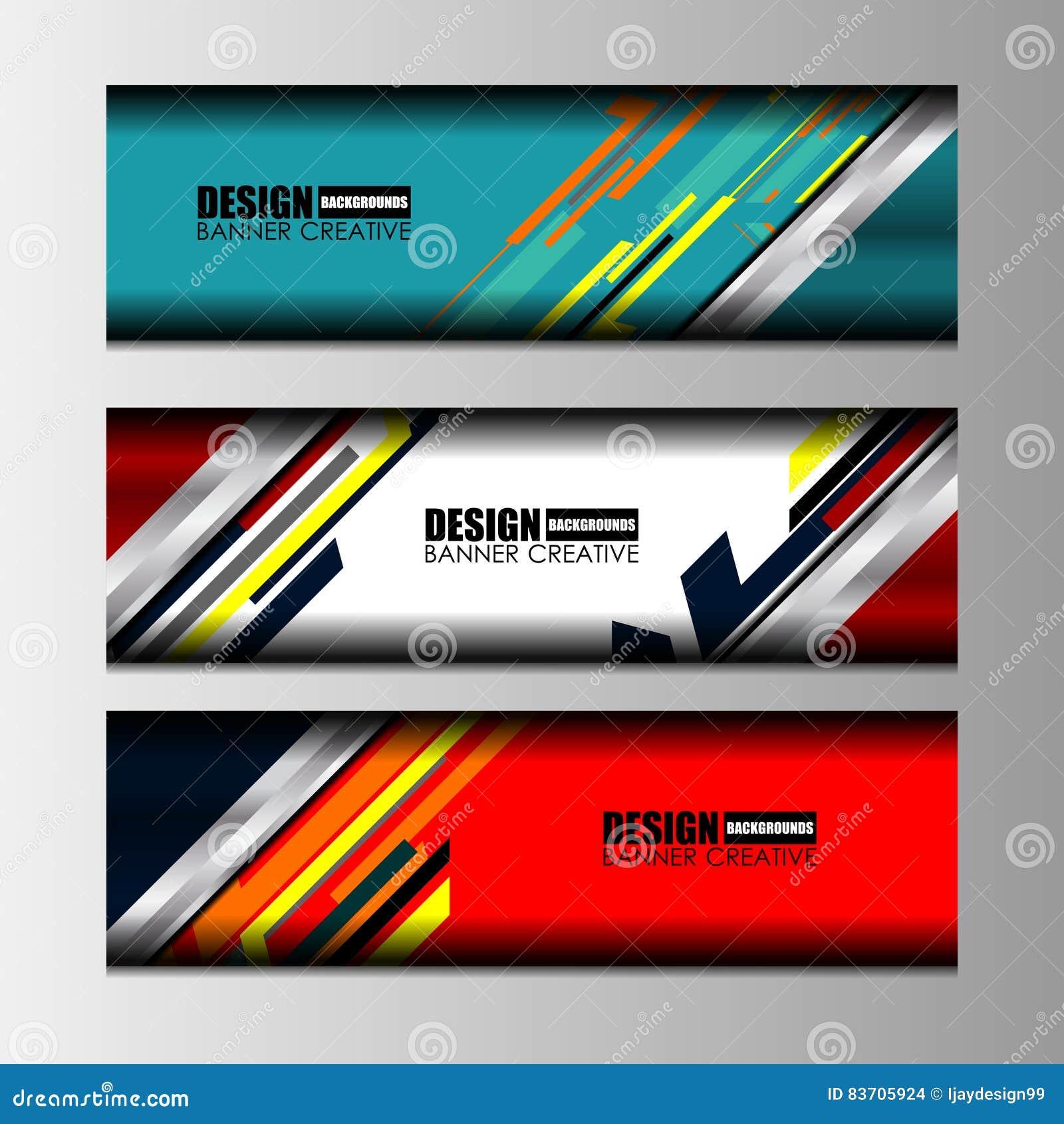 Web Banners Design Stock Vector