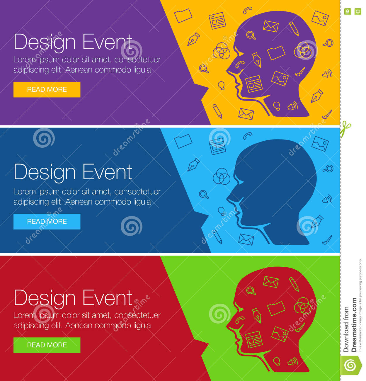 Web Banners And Promotional Materials. Stock Illustration ...