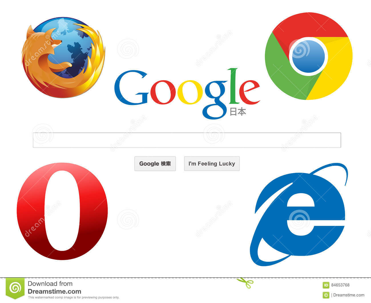 Web browser icons editorial stock photo  Illustration of start