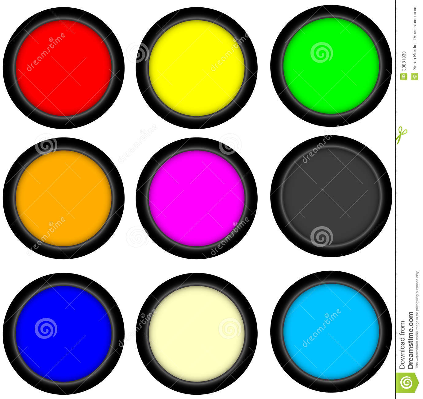 Web Button 3d Circle Royalty Free Stock Images