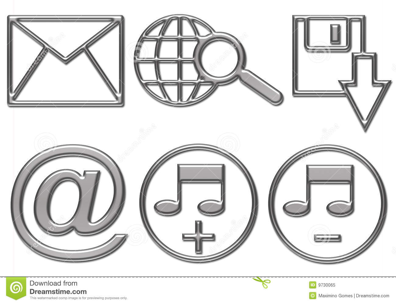 Web Button Icons Are Ready Stock Illustration. Image Of