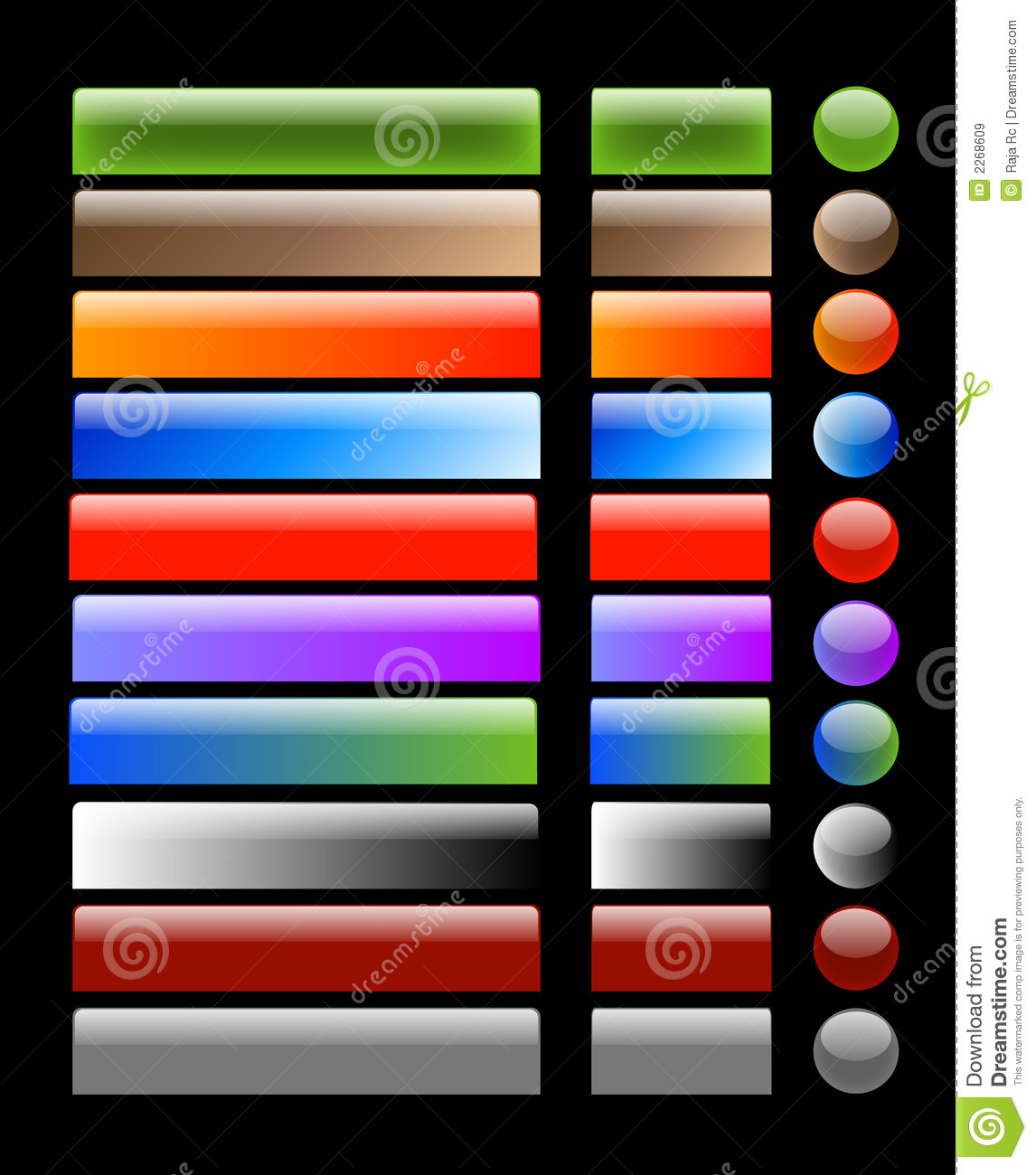 Web Buttons Royalty Free Stock Images - Image: 2268609