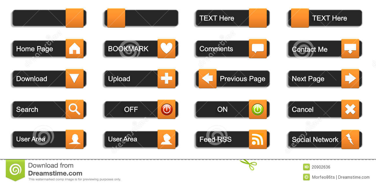 Web Buttons 3d Royalty Free Stock Image Image 20902636