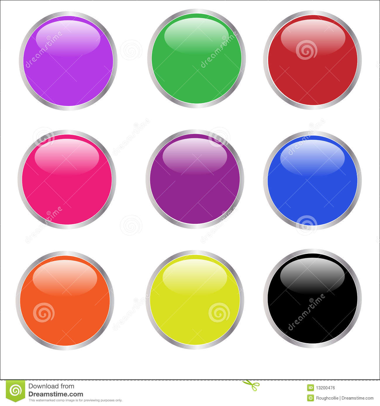 Web Buttons - glossy