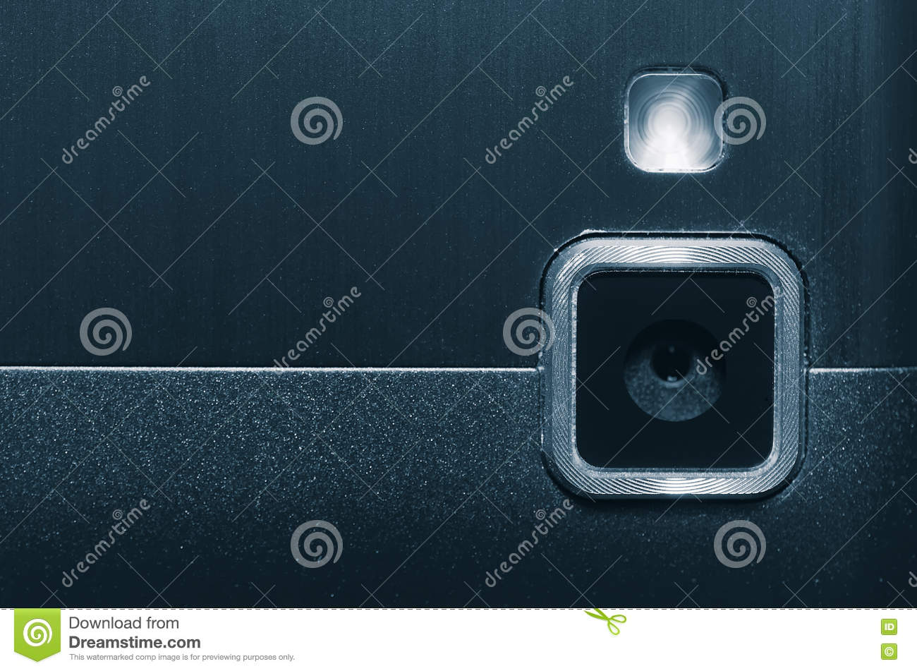 Web Camera And Flash Your Mobile Phone Stock Image Image Of Macro