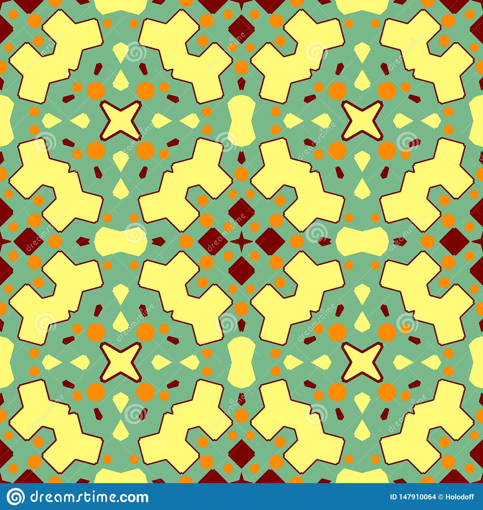 Ceramic tile texture. Gorgeous seamless patchwork pattern from colorful ornaments for ceramic tiles