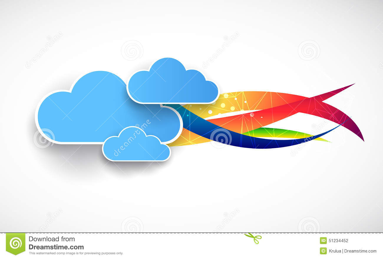 web cloud banner template stock vector illustration of blank