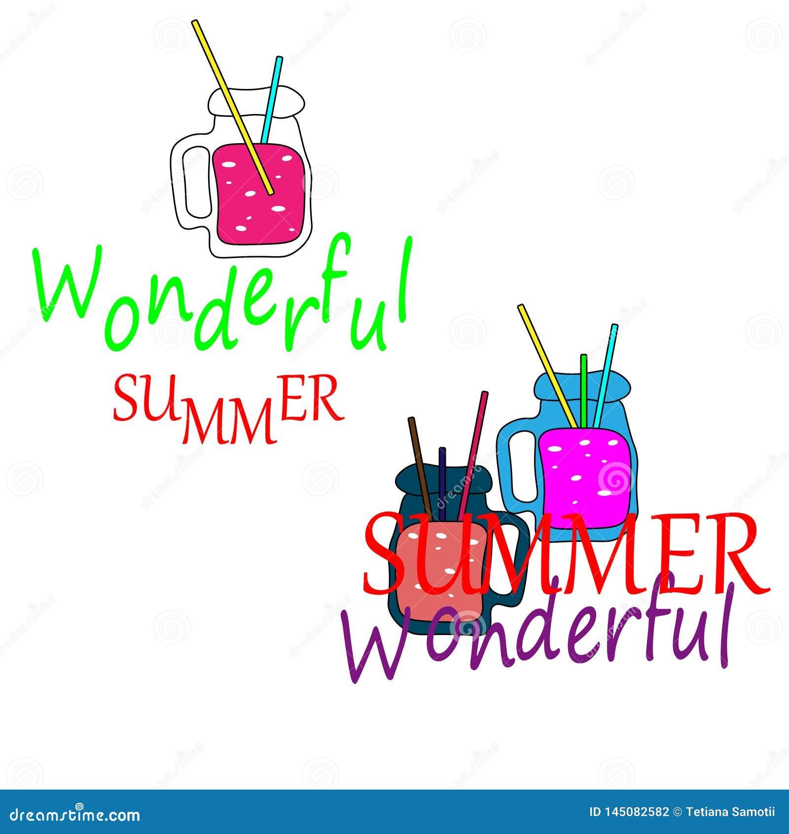 Web Cocktails frais d ?t? Collection de limonade et de jus Boissons de fruit de glace d ?t? dans des cruches