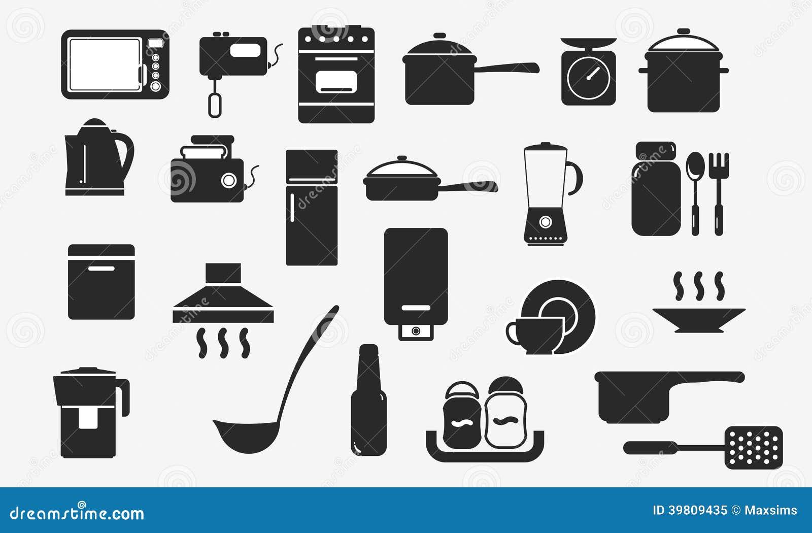 Web de los aparatos electrodom sticos de los iconos del for Productos de cocina