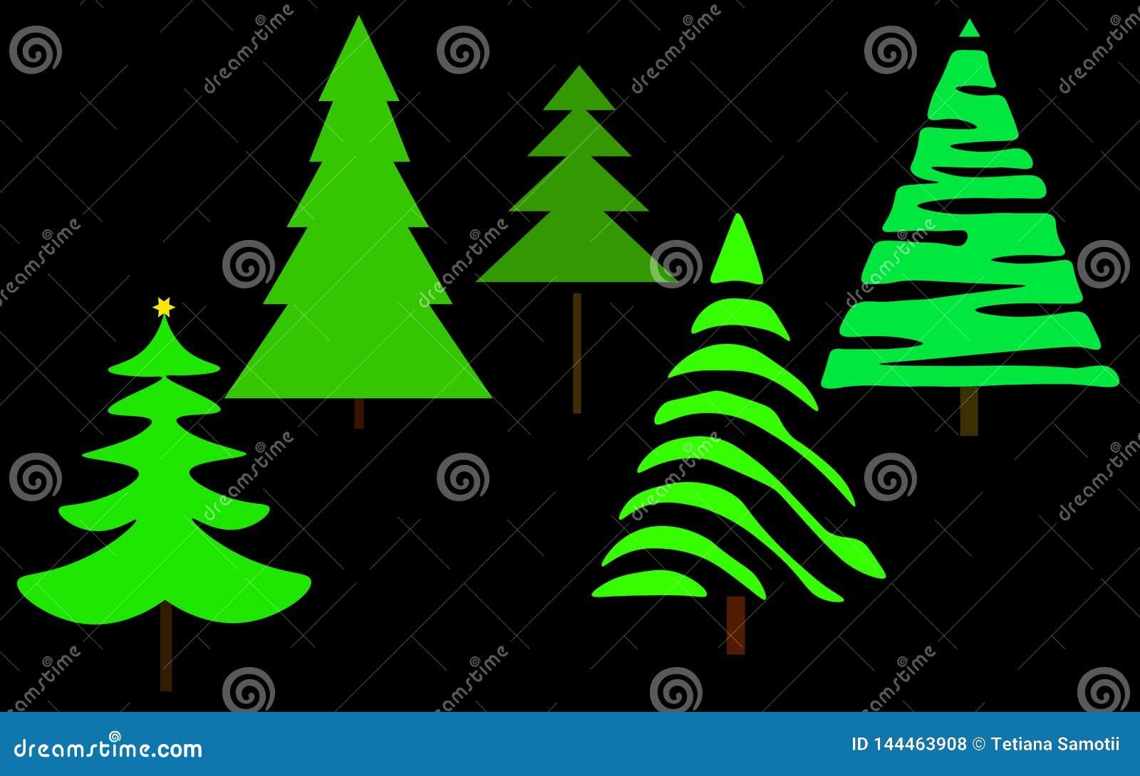 Web De reeks van de kerstboom
