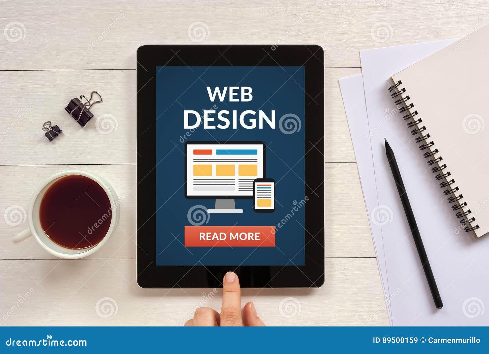 Web Design And Development Concept White Office Desk