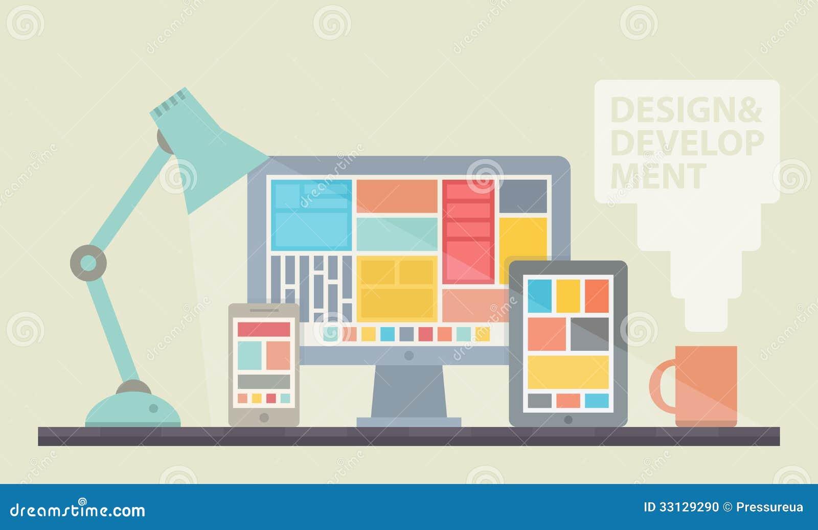 Web Design Development Illustration Stock Photo - Image: 33129290