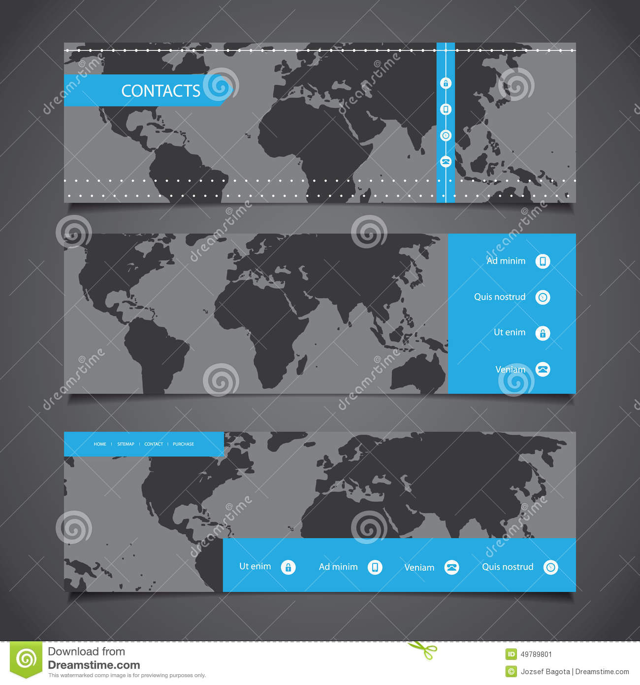 Web design elements header designs with world map stock image download comp gumiabroncs Choice Image
