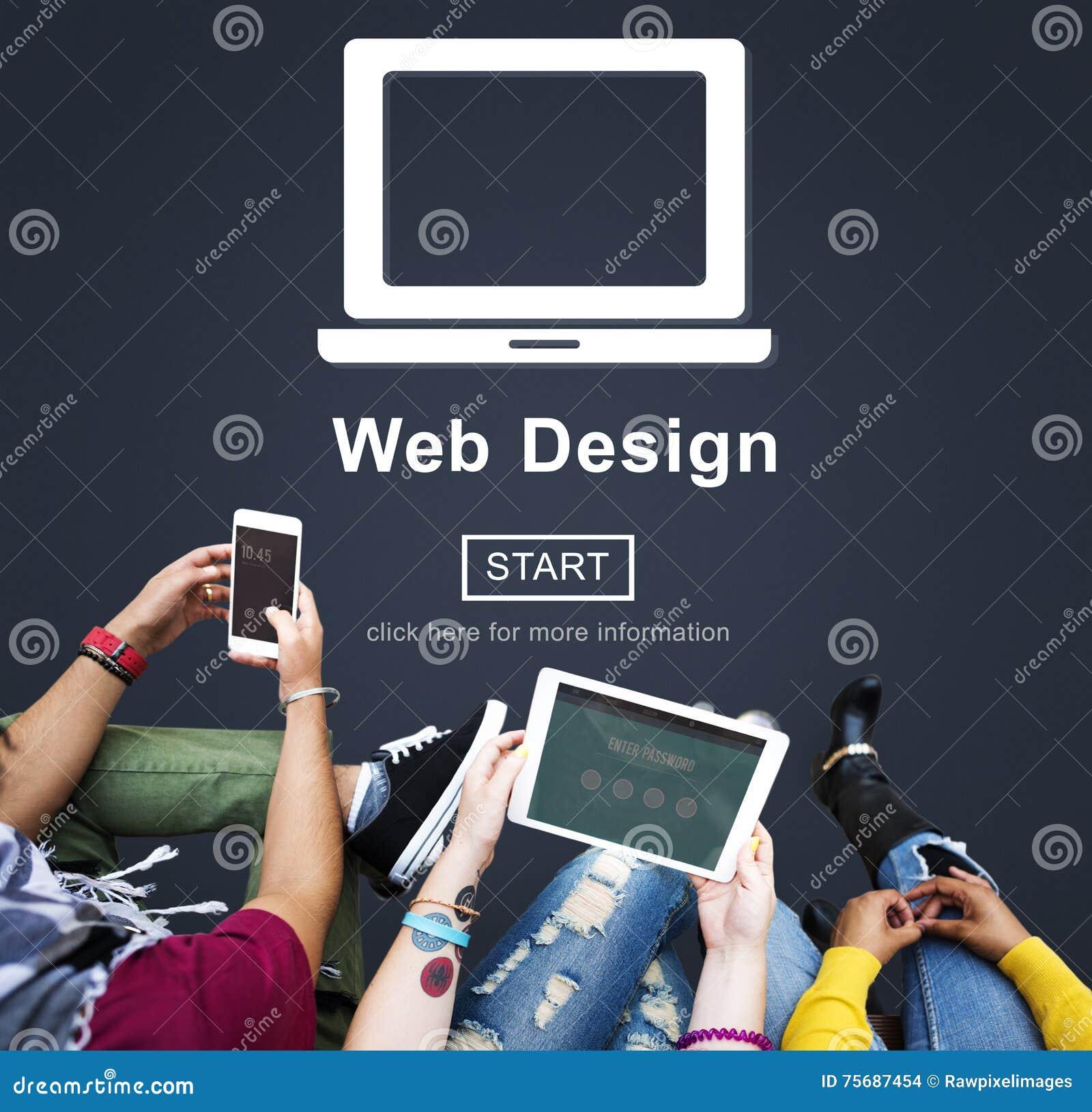 Web Design Homepage Internet layout Software Concept