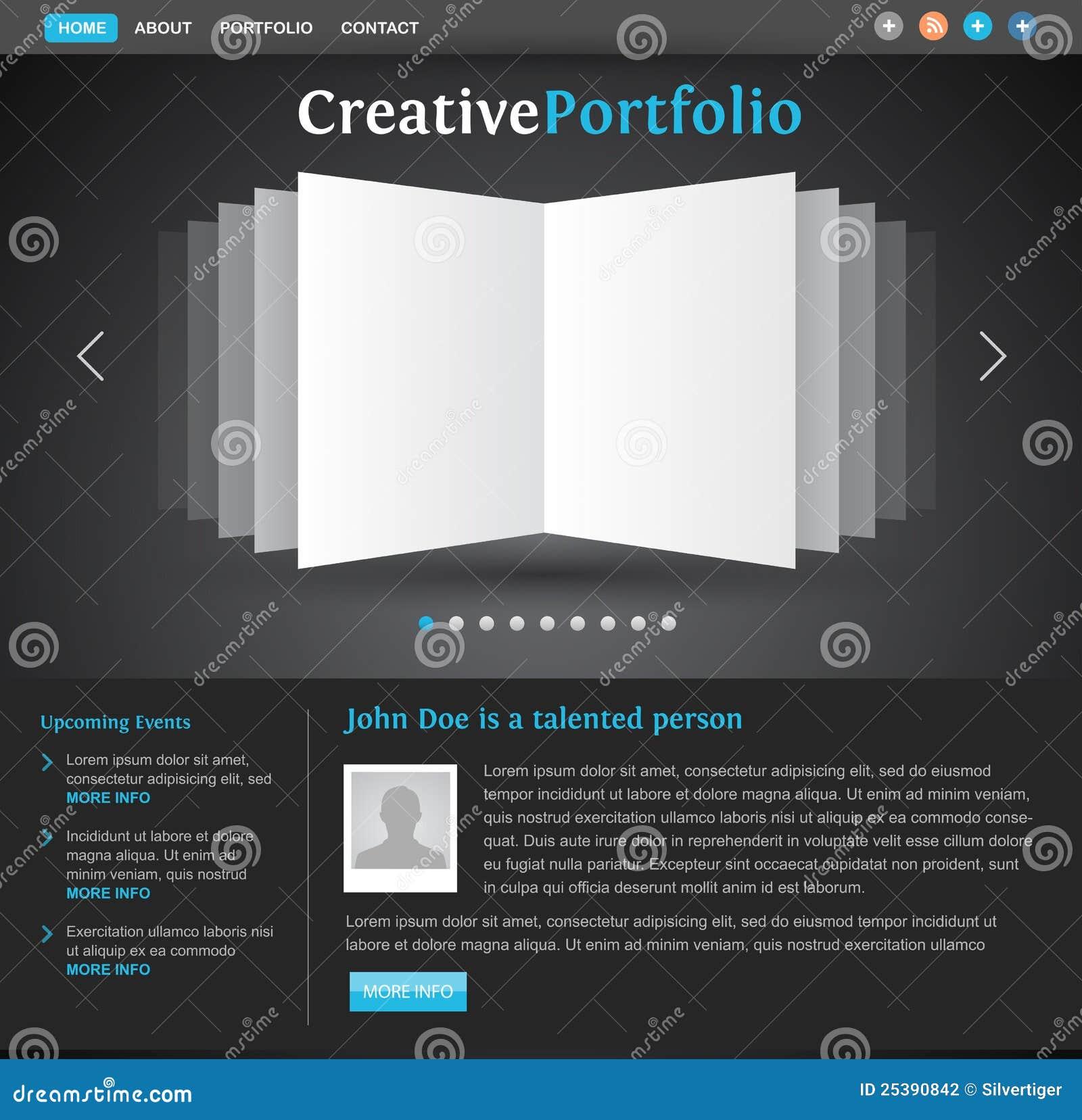 Web Design Portfolio Template Stock Vector - Illustration of motion ...