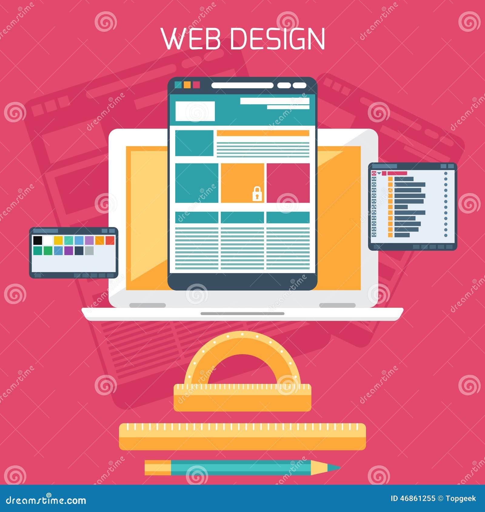 Web Design Program For Design And Architecture Stock