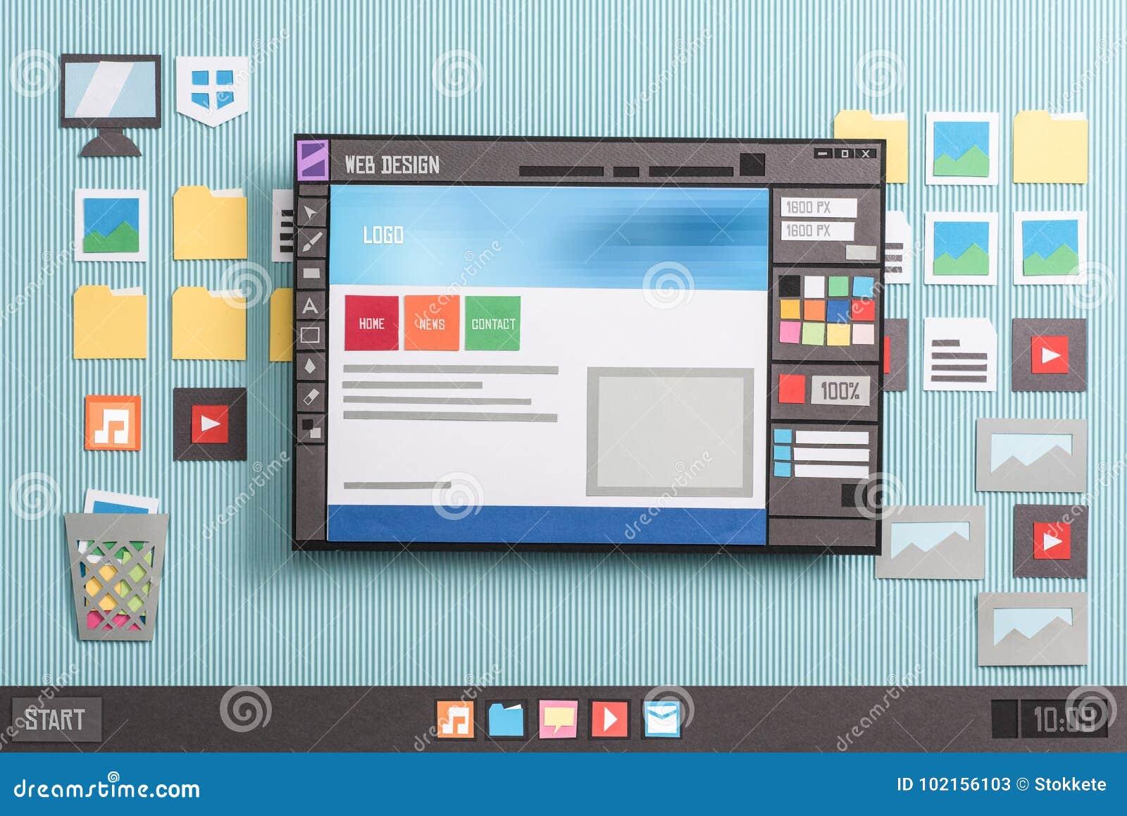 Web Design Software Stock Image Image Of Application 102156103
