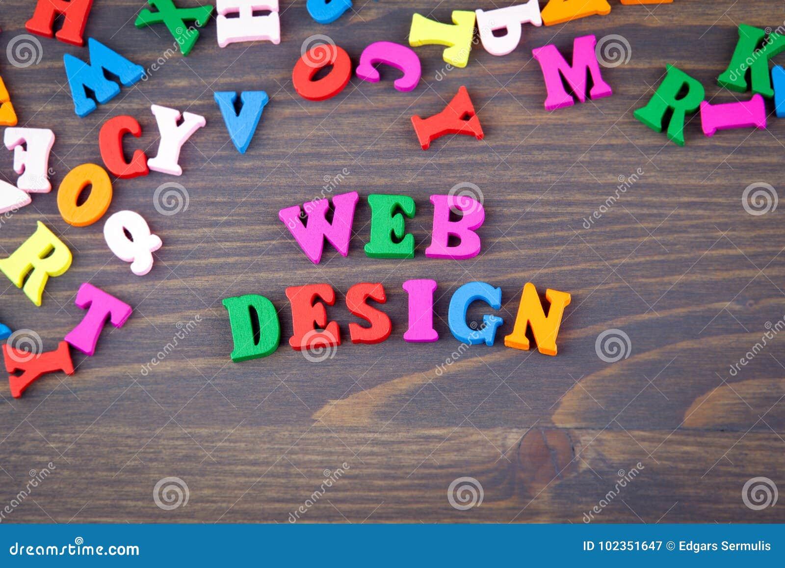 Lettere Di Legno Colorate : Web design sviluppo del sito web e fondo di tecnologia varie lettere