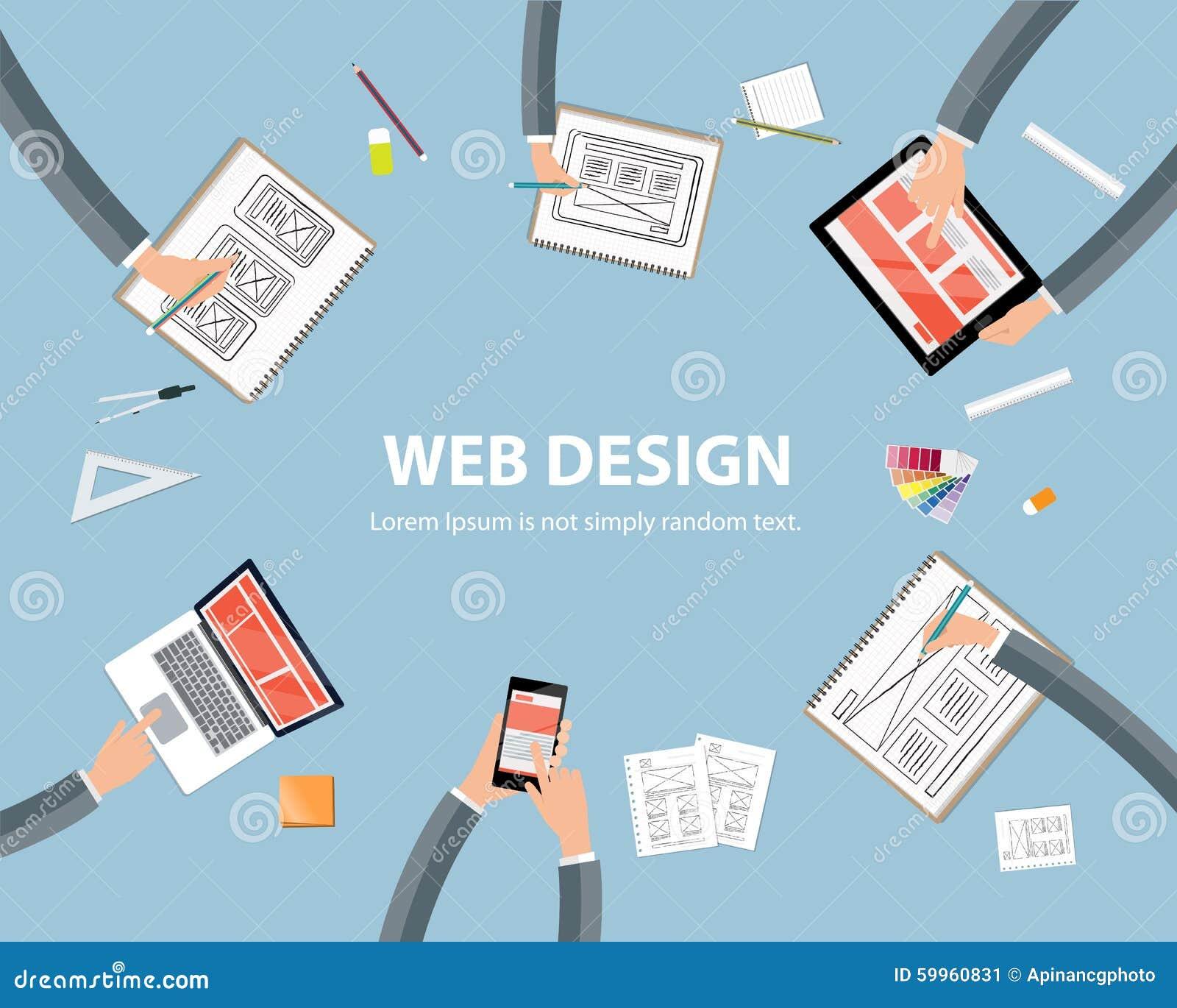 Web Design Workspace Concept Stock Vector Image 59960831