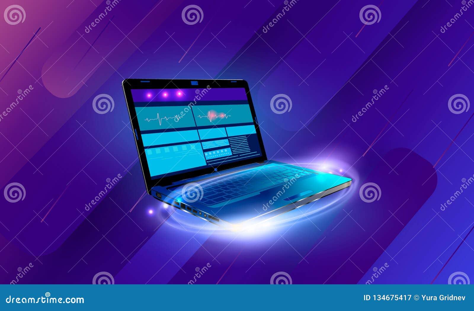 Web development and coding. Cross platform development website. Adaptive layout internet page or web interface on screen